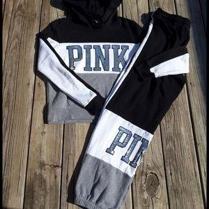 Vs pink Bling Sweatsuit